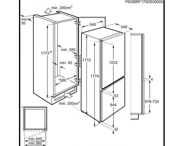 Oryginał Šaldytuvai : Šaldytuvai - Electrolux ENN7853COW | Onus.lt DS51